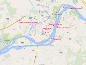 mapa pyongyang
