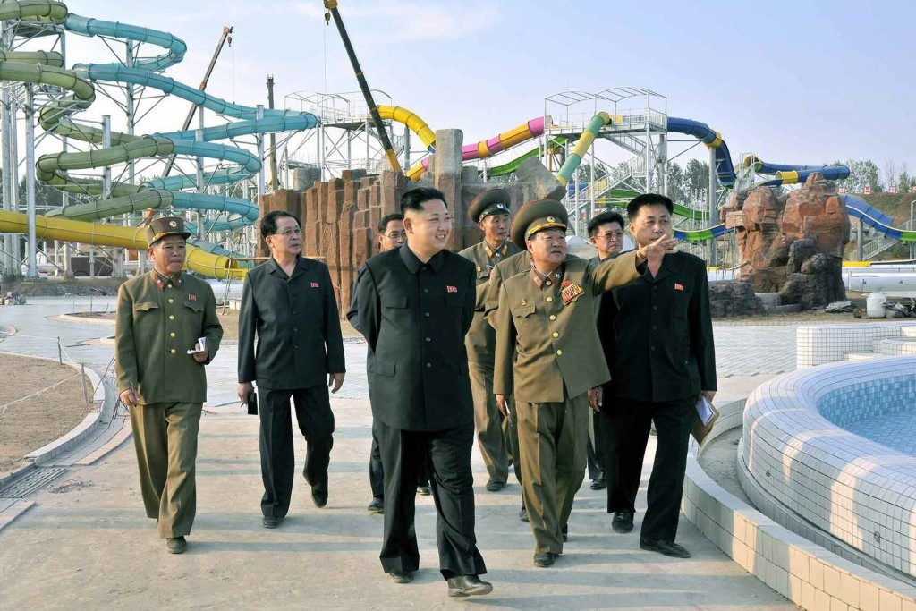 Kim Jong-un visits water park construction site
